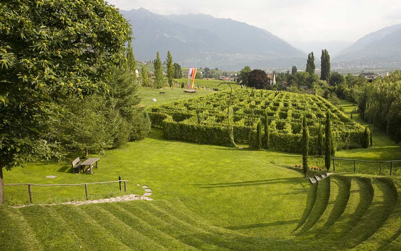 Hedge-made labyrinth in Merano, South Tyrol